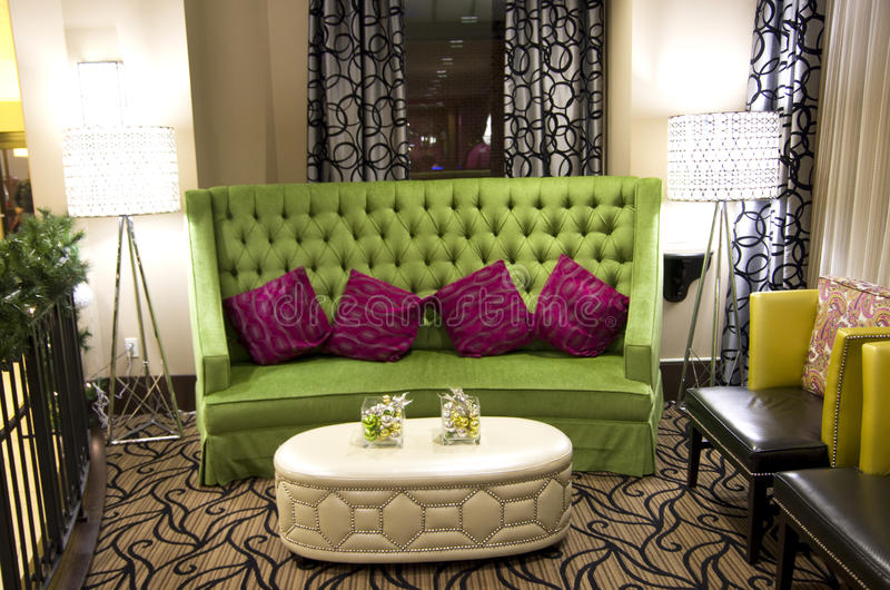 Cadeira do sofá da princesa foto de stock royalty free