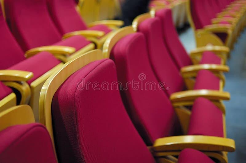Cadeira do teatro imagem de stock