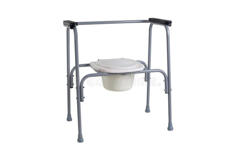 Cadeira do toalete para a reabilitação no período pós-operatório, as pessoas idosas, assim como pacientes que têm desordens do fotografia de stock royalty free