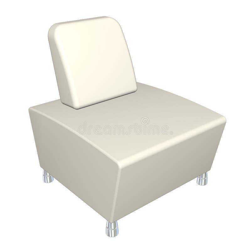 cadeira do Todo-couro, ilustração 3D ilustração royalty free
