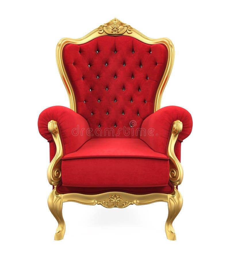 Cadeira do trono isolada ilustração stock