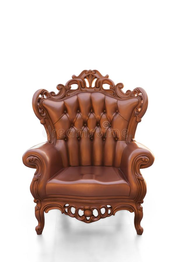 Cadeira dourada do vintage fotografia de stock