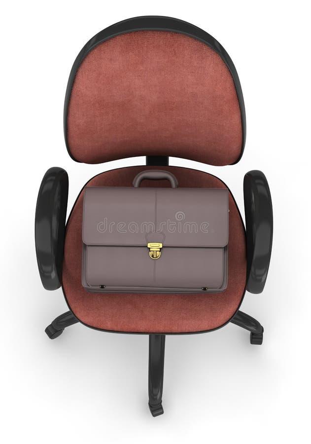 Cadeira e pasta do escritório ilustração royalty free