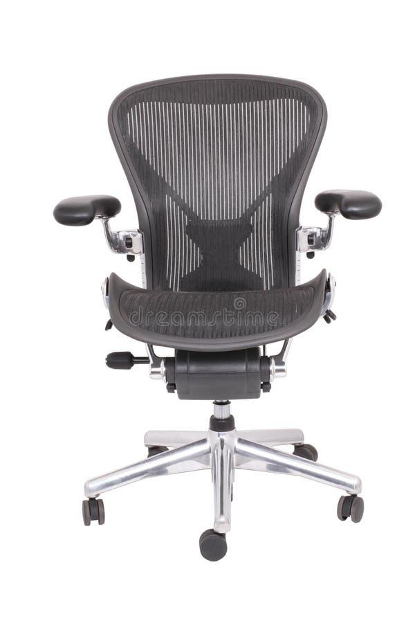 Cadeira ergonómica do escritório Isolado em um fundo branco fotos de stock royalty free