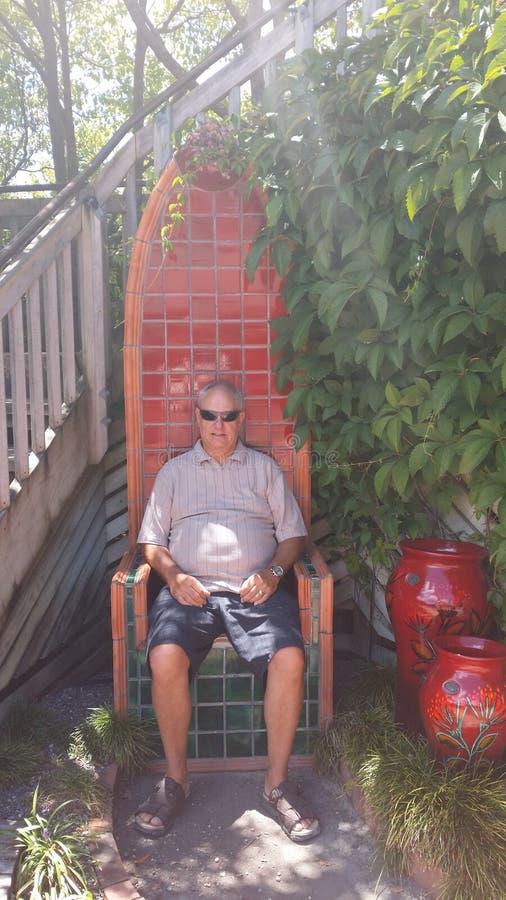Cadeira gigante fotos de stock