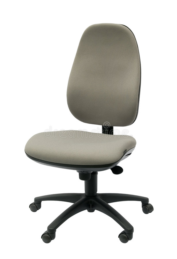 Cadeira isolada do escritório imagem de stock