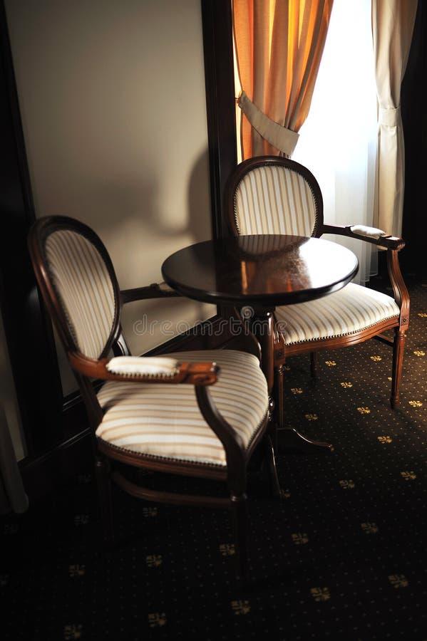 Cadeira luxuosa de madeira fotografia de stock royalty free