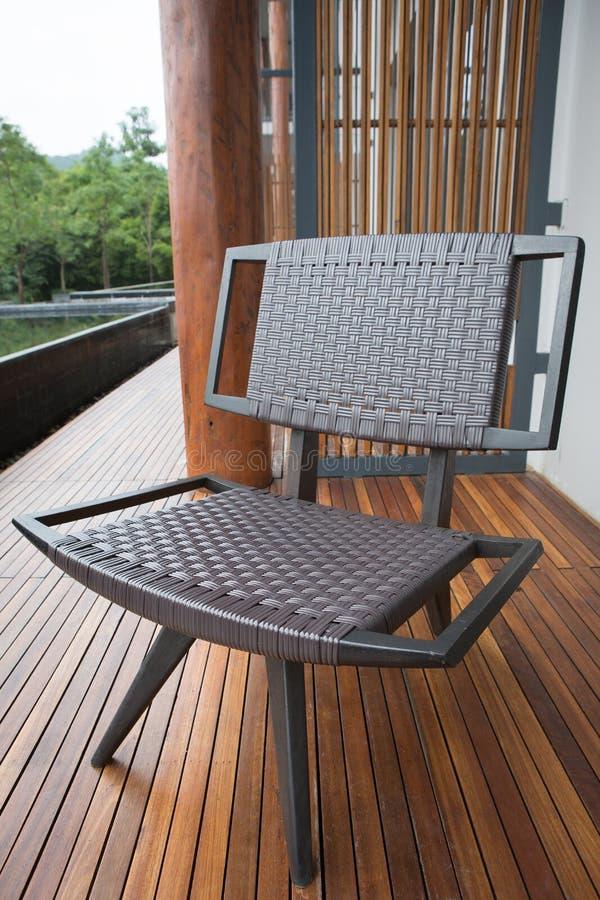 Cadeira marrom retro fotos de stock royalty free