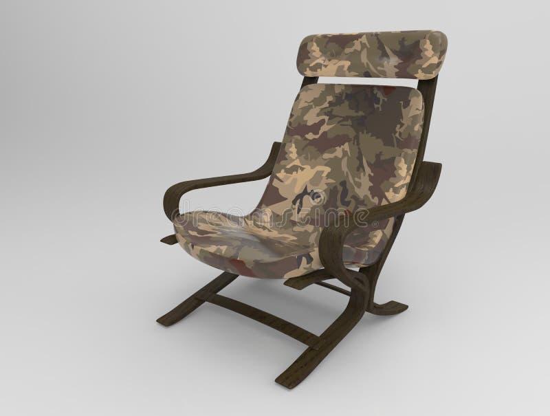 Cadeira militar no fundo foto de stock