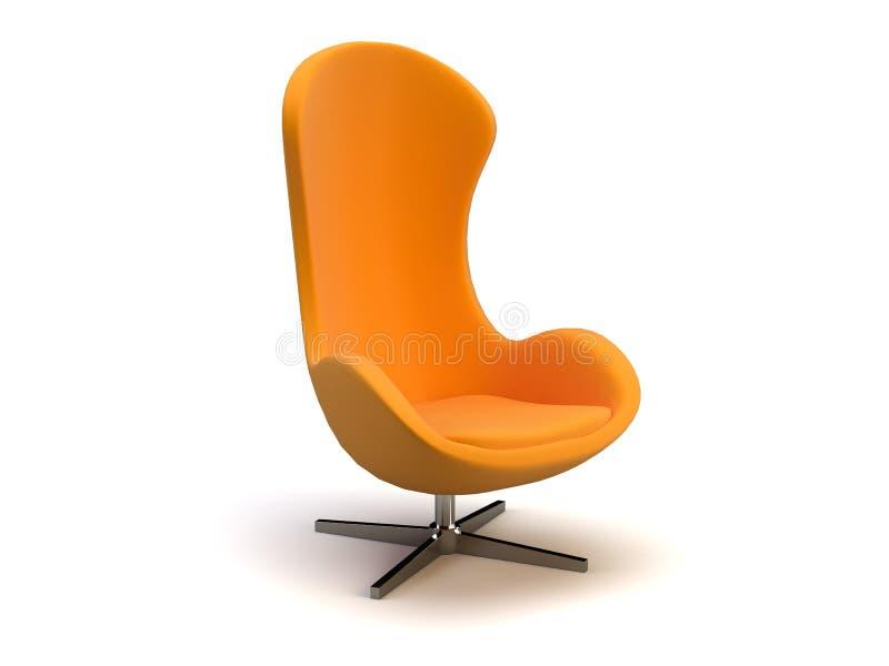 Cadeira moderna alaranjada ilustração do vetor