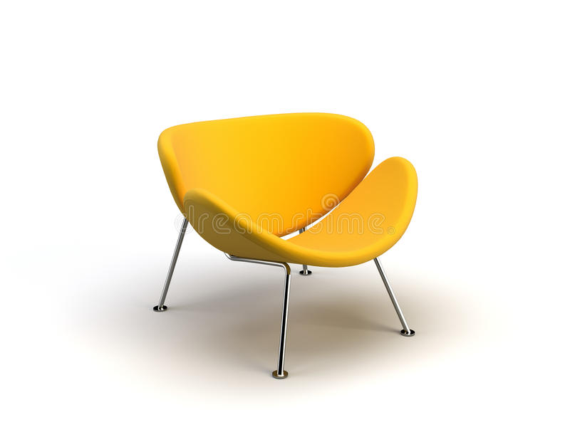 Cadeira moderna amarela ilustração do vetor