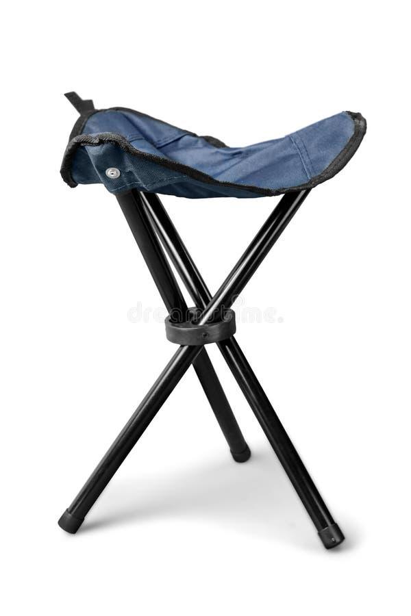 Cadeira moderna do piquenique portátil isolada no branco fotografia de stock