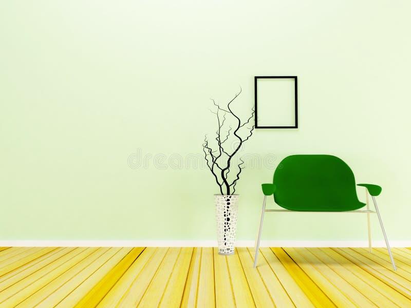 cadeira moderna na sala ilustração do vetor