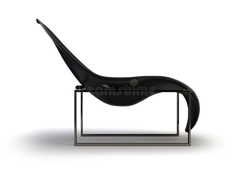 Cadeira moderna preta ilustração stock