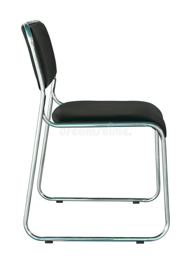 Cadeira moderna preta isolada no branco imagem de stock