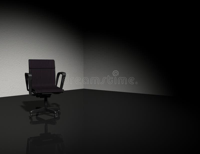 Cadeira na obscuridade foto de stock royalty free