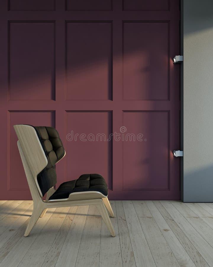 Cadeira na sala ilustração royalty free