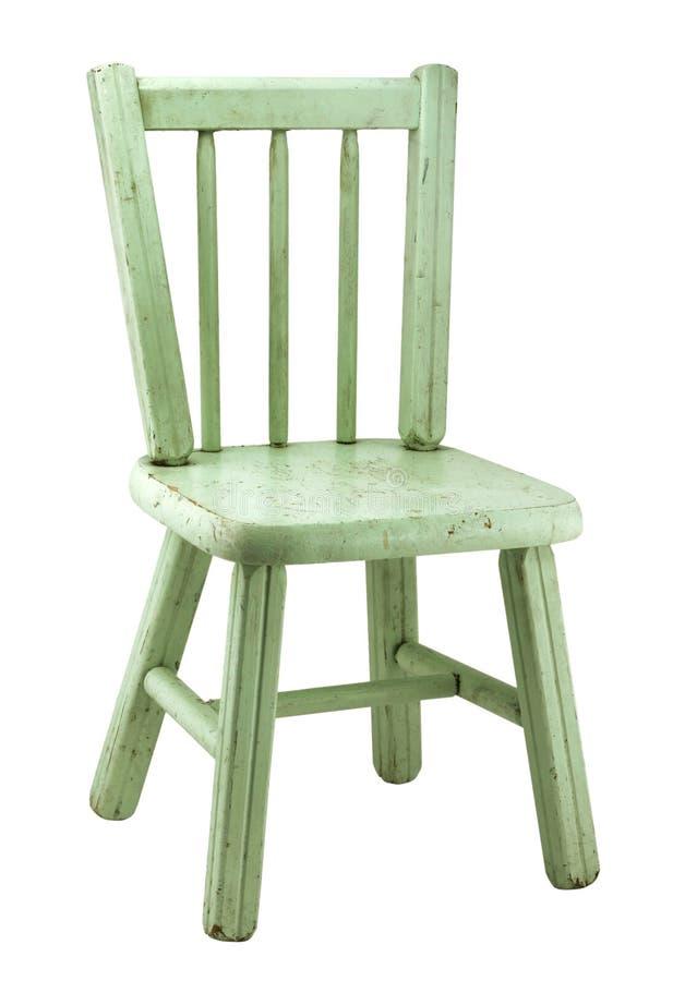 Cadeira pintada velha da exploração agrícola imagem de stock