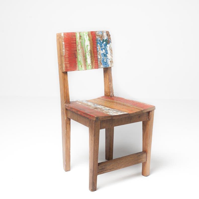 Cadeira pintado à mão da teca foto de stock