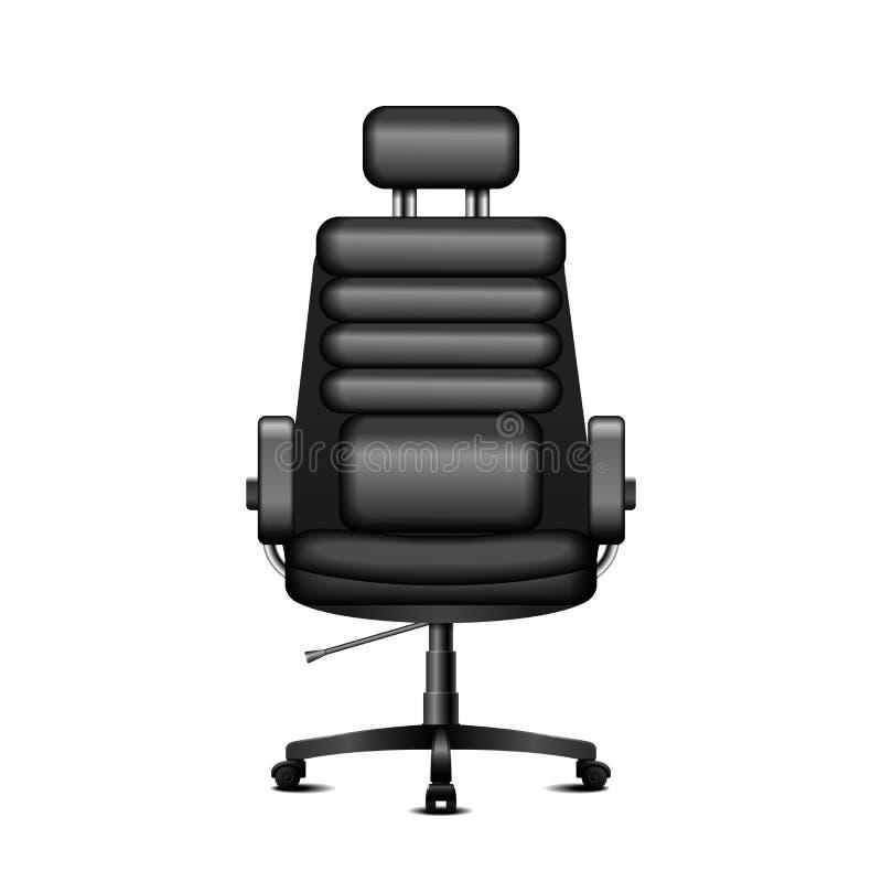Cadeira preta do escritório ilustração stock