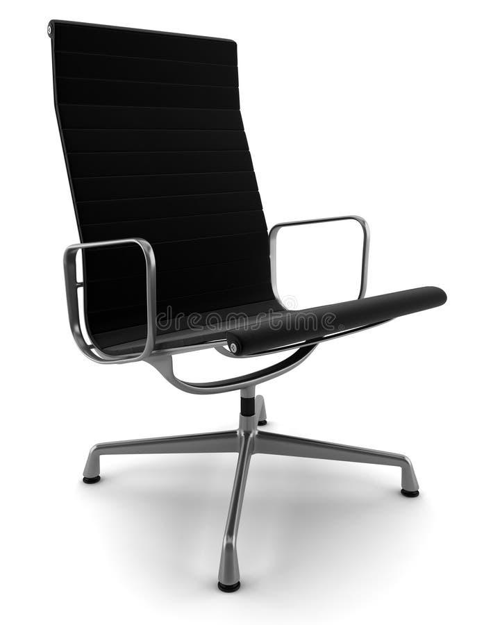 Cadeira preta do escritório isolada no branco fotos de stock