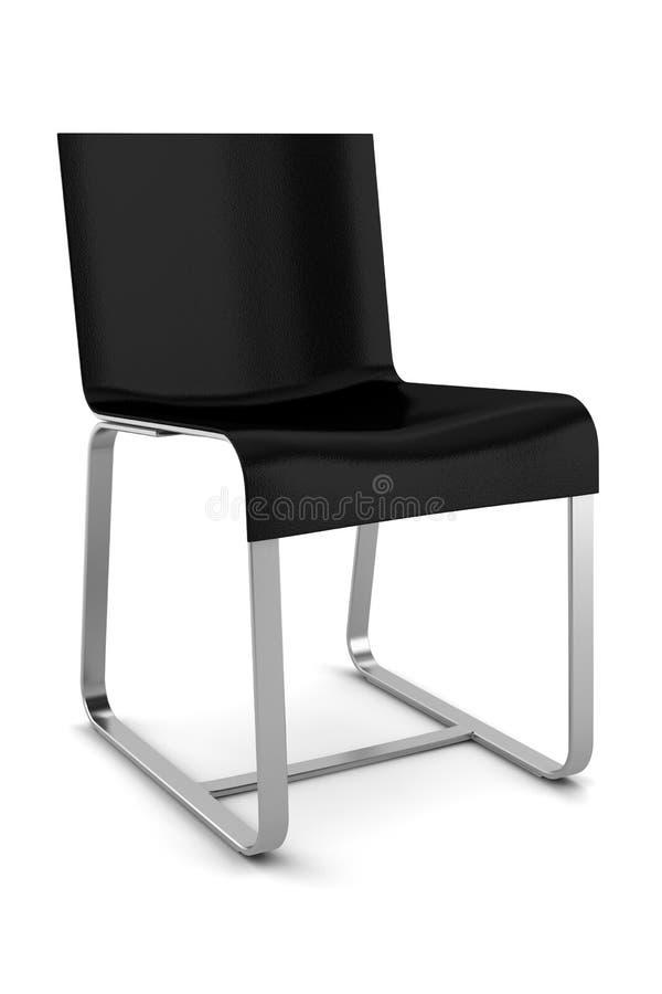 Cadeira preta isolada no branco imagens de stock royalty free