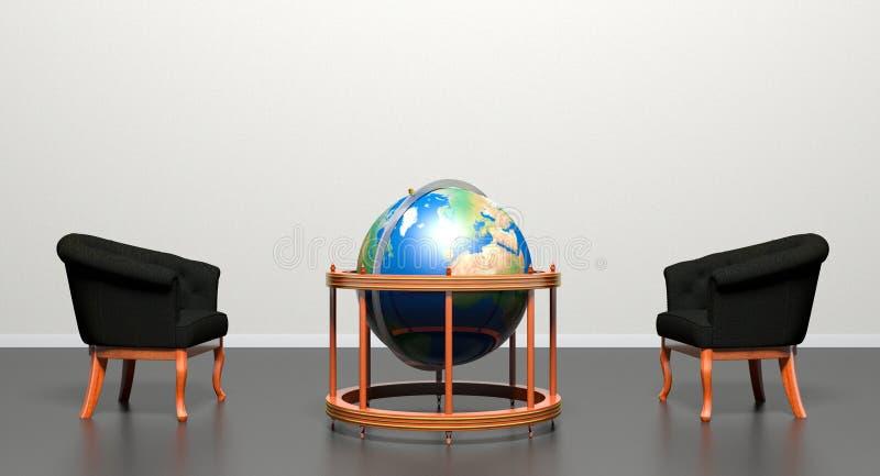 Cadeira preta oposto a ilustração do vetor