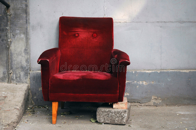 Cadeira quebrada imagens de stock royalty free