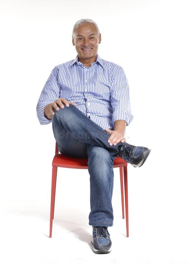Cadeira sênior. foto de stock