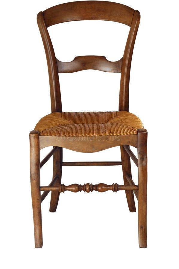 Cadeira velha com trajeto de grampeamento foto de stock royalty free