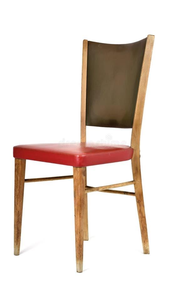 Cadeira velha em um fundo branco fotos de stock