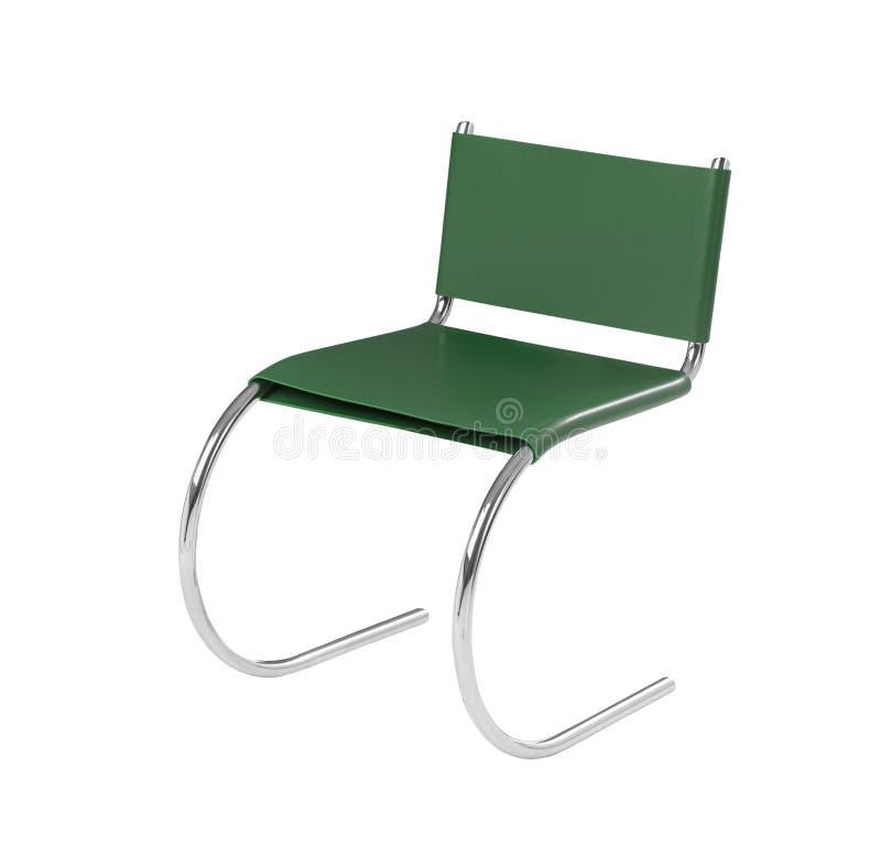 Cadeira verde à moda isolada no branco fotos de stock