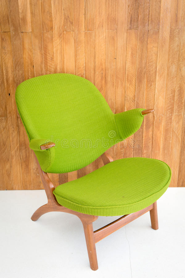 Cadeira verde retro foto de stock royalty free