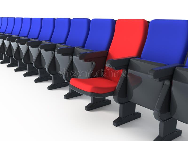 Cadeira vermelha original ilustração stock
