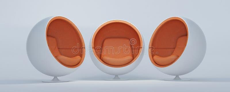 Cadeiras 3 do casulo ilustração royalty free