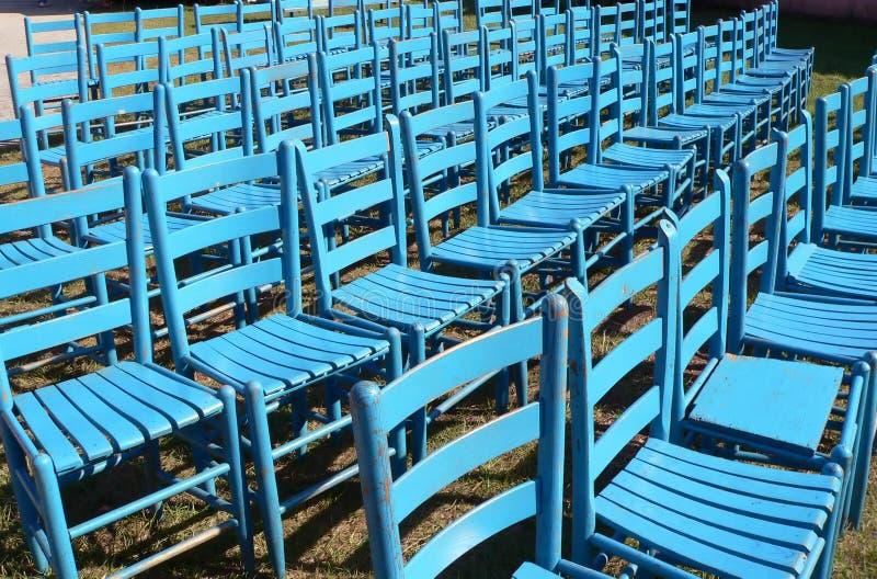 Cadeiras azuis foto de stock royalty free
