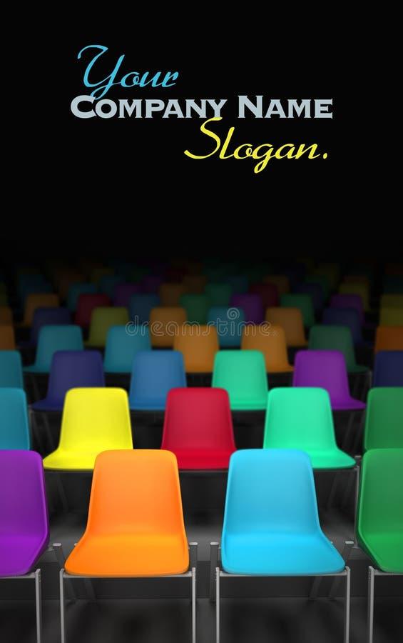 Cadeiras coloridas ilustração stock