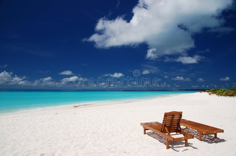 Cadeiras da lona fotografia de stock royalty free