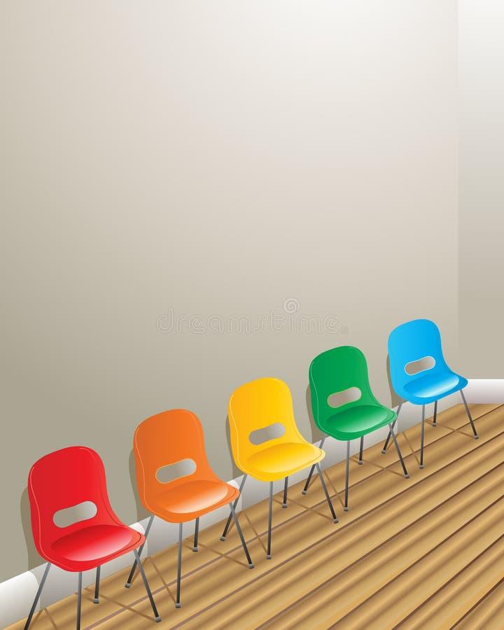 Cadeiras da sala de espera ilustração stock