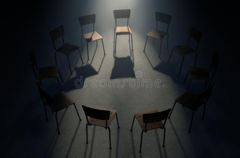 Cadeiras da terapia do grupo imagens de stock royalty free