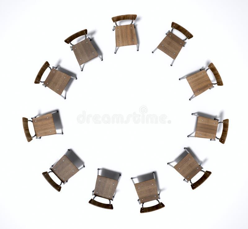 Cadeiras da terapia do grupo foto de stock royalty free