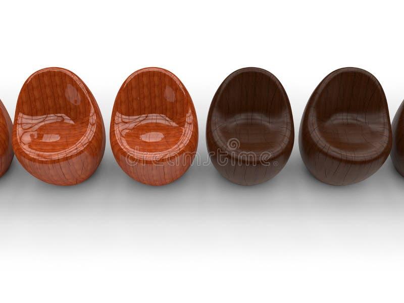 Cadeiras dadas forma redondas ilustração royalty free