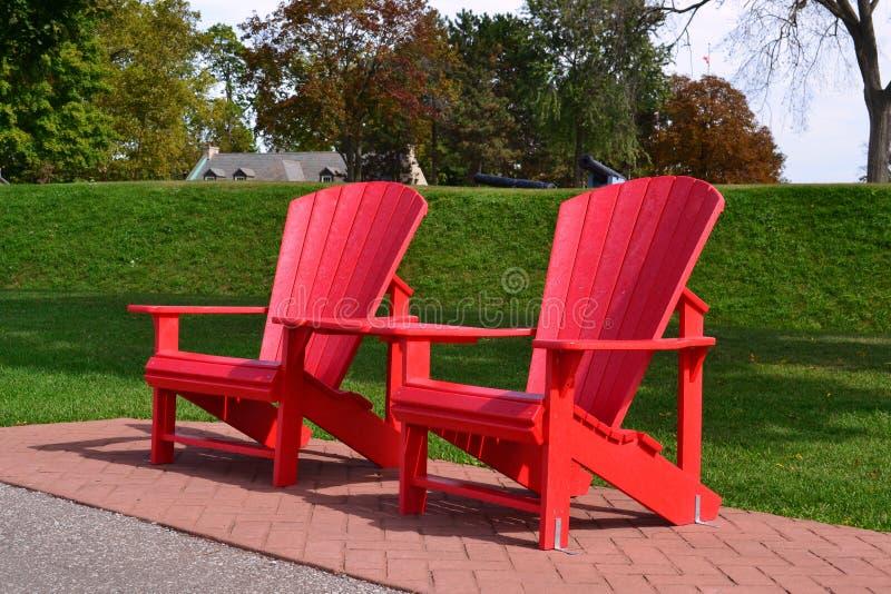 Cadeiras de Adirondack imagem de stock royalty free