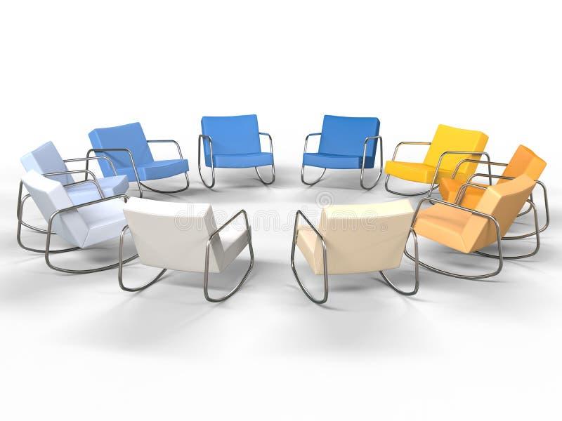 Cadeiras de couro ilustração stock