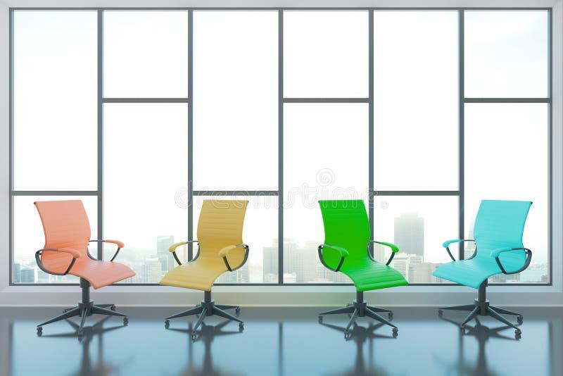 Cadeiras de giro na sala ilustração royalty free