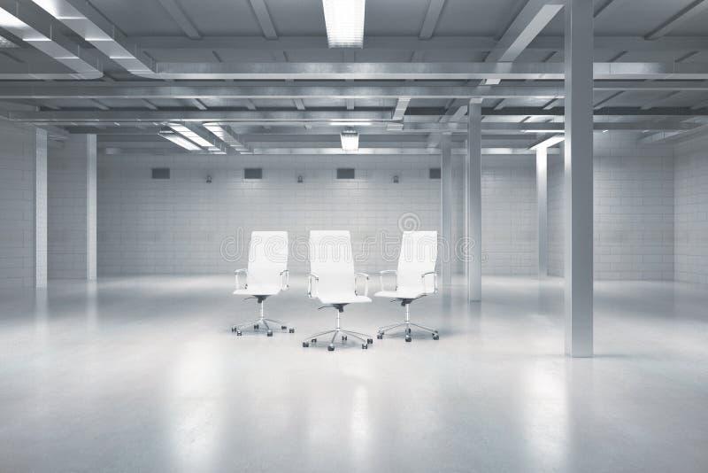Cadeiras de giro no armazém ilustração stock