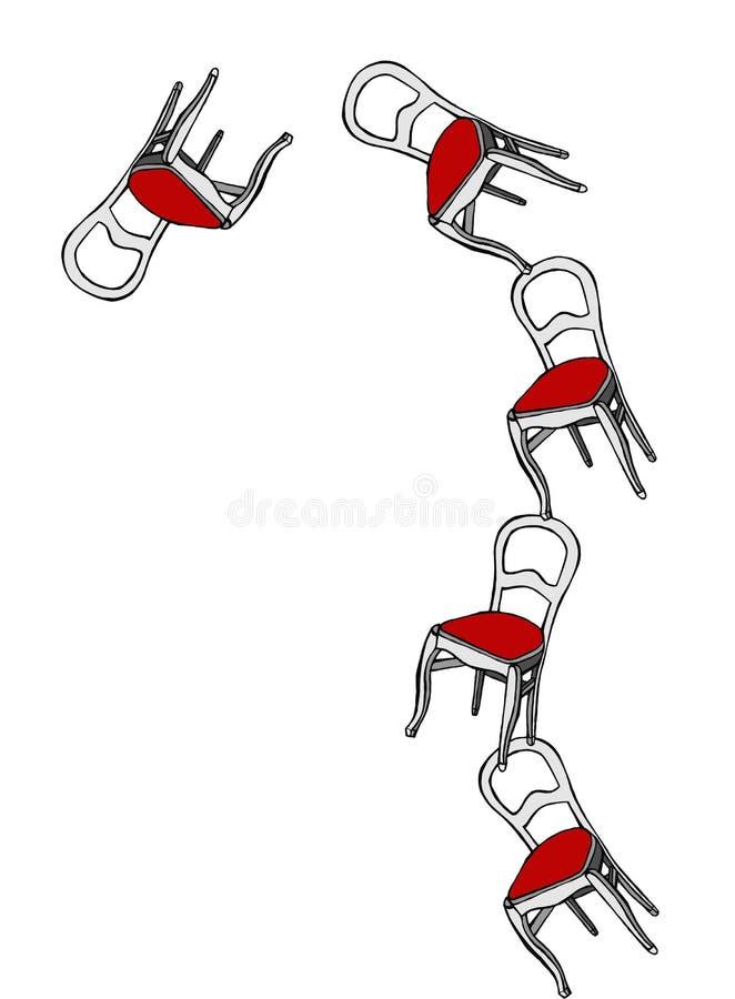 Cadeiras de mnanipulação que afrouxam o balanço ilustração stock