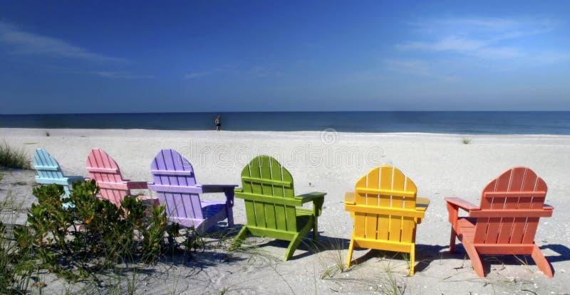 Cadeiras de praia de Captiva mim imagens de stock