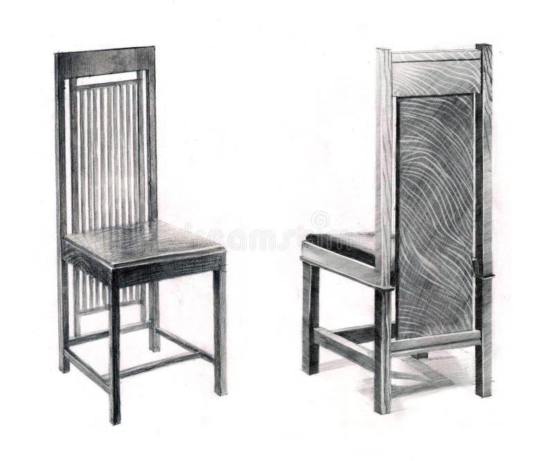 Cadeiras de Wrights ilustração royalty free