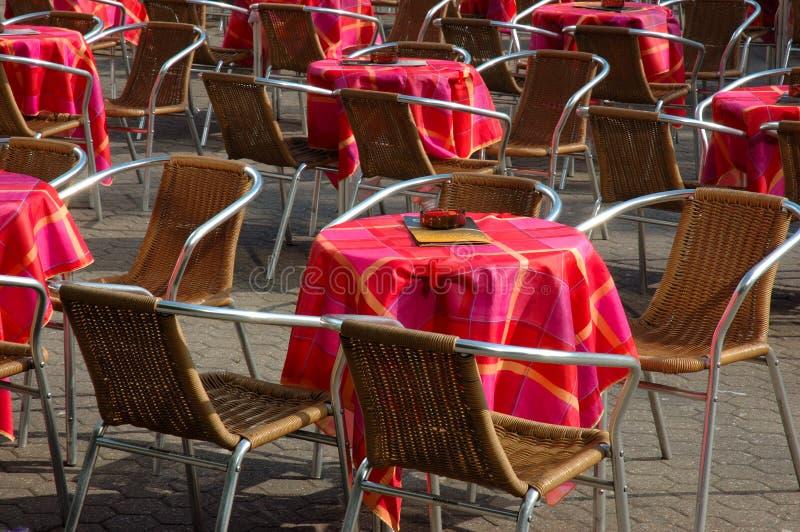 Cadeiras do café fotografia de stock